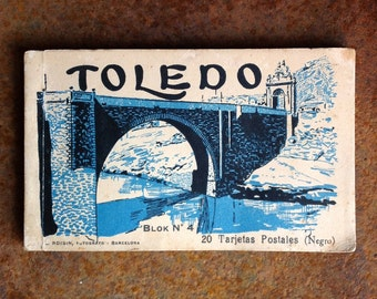Vintage book of postcards from Toledo - photographs by Lucien Roisin