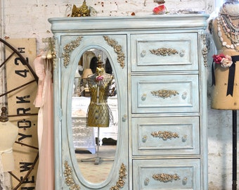 Painted Cottage Chic Shabby Romantic French  Dresser LGCH35