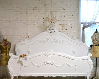Painted Cottage Shabby  French Romantic  Bed Queen / King BD717