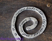 A Room without Books... Cicero Quoted Bookmark, Hand Stamped Bookmark, Custom Bookmark