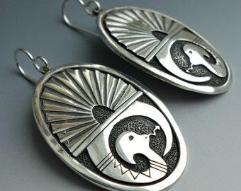Eyptian Snake Sterling Earrings