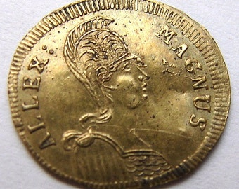 1820s GERMAN TOKEN Nuremberg Alexander the Great Charm Lion Rechenpfennig undated jeton
