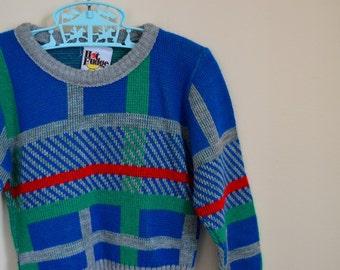 Vintage Boy's Striped Sweater - Size 3T