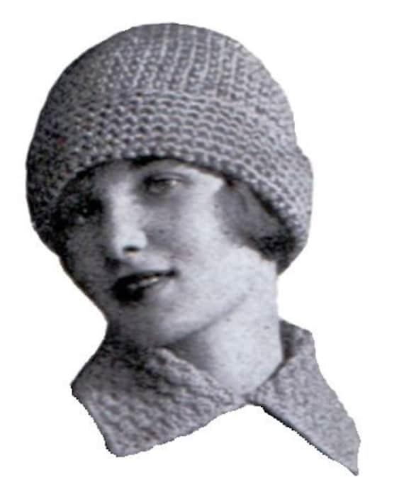 1920 Dinsley Hat Knit Pattern Downton Abbey Era Instant