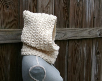 Crochet Pattern Hooded Cowl Instand Download PDF