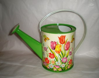 Watering Can Vintage Tin Litho Ohio Arts Co. 1960's