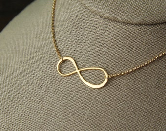 Large gold infinity necklace, simple gold necklace, infinity necklace, gold infinity, eternity necklace, infinity symbol, valentine day