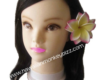 DOUBLE STAR ROSETTE - Plumeria Foam Hair Clip or Pick - Your Choice of 1!