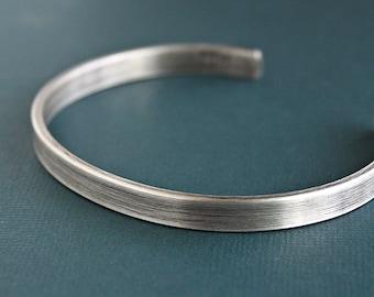 Mens Silver Bracelet, Mens Cuff Bracelet, Silver Bangle, Sterling
