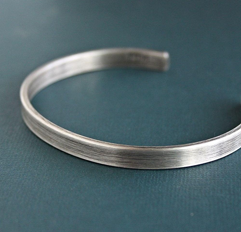 Silver Band Bracelet: Mens Silver Bracelet Mens Cuff Bracelet Sterling Silver