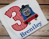 Personalized Thomas the Train Birthday Shirt with Number