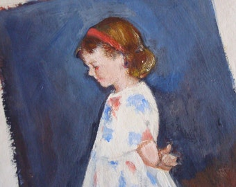 Little Girl Archival Print of Original Acrylic Painting by Carol Hofford