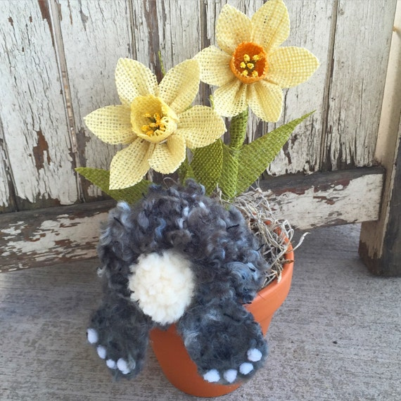 Home Craft Ideas Easter Bunny Flower Pot Craft Flower Pot: Items Similar To Easter Decor, Bunny Flower Pot, Soft