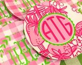 Melamine salad plate preppy strawberry