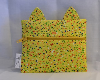 Yellow Sprinkle Kitty!Cat Ear Wallet/Coin Purse