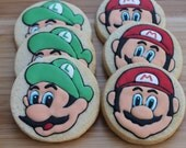 SUPER video game hero cookie favors - one dozen