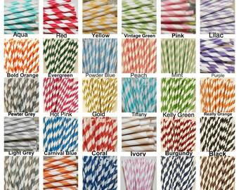 Paper Straws, 500 Straws MADE In USA, Pick Your Color, Striped Paper Straws, Wedding Straws, Chevron, Birthday Party Straws, Retro Straws
