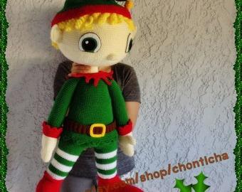 ELF boy 32 inches - PDF amigurumi crochet pattern