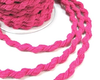 """Hot pink soft twisted cord, """"S"""" cord, 2m"""
