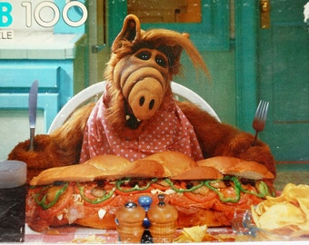 Milton Bradley Alf 100 Piece Puzzle 80s Sealed / Alf About To Eat A Submarine Sandwich / Vintage Toy Jigsaw Puzzle