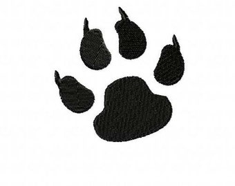 Panthers Paw Print Embroidery Machine Design 4030 INSTANT DOWNLOAD