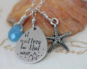 starfish story - teacher gift - adoption necklace - starfish necklace - Christmas idea for teacher