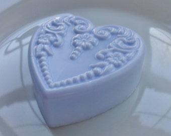Victorian Heart Soap-Lavender Color