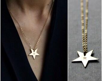 Star Gold Necklace - Celebrity Style - 14K Goldfilled