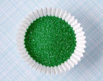 Emerald Green Sanding Sugar (2 ounces) - Green Fine Sanding Sugar - Small Bag