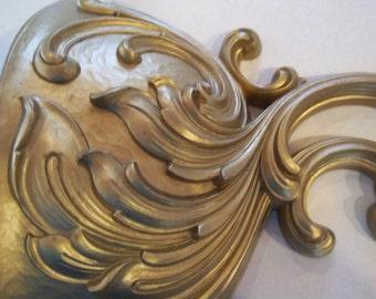 Vintage - Sconce - Gold - Wall Pocket - Plant Holder - Cottage Chic - Unique  Home Decor