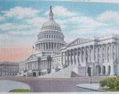 Souvenir Postcards from Washington DC, View Postcards, Photochrom, America, White House, Capitol City, Monuments