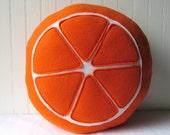 Citrus Plush, Tangerine Slice Pillow