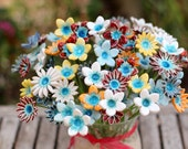 Housewarming gift Christmas presents Hostess gift Flowers centerpiece Flowers decorations Ceramic flowers Holiday gift