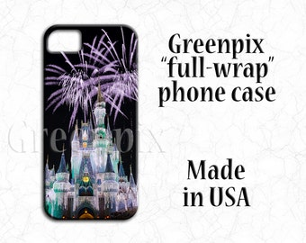 Disney iPhone 7 case, Galaxy S6 cover, castle fireworks, Christmas lights, iPhone 4, 4s, 5, 5s, 5c, iPhone 6 Plus, Samsung Galaxy S5 S6