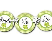 Banner, Bunting, Party Decorations, Bridal, Baby Shower, Birthday, Wedding, Chevron Stripes, Flowers, Available in 4 Colors