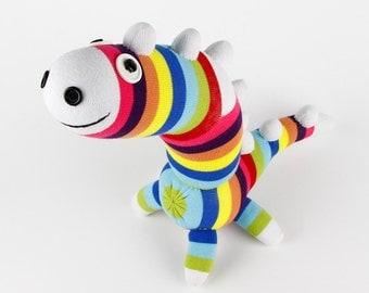 Christmas Gift Birthday Gift Handmade Sock Dinosaur Stuffed Animal Doll Baby Toys