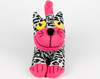 Handmade Sock Cheshire Cat Kitty Stuffed Animal Baby Toy Christmas Gift New Year Gift Birthday Gift