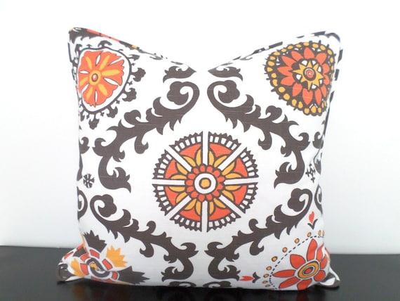 gray sofa orange pillows - photo #33