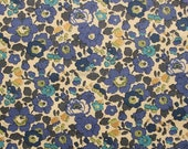 Liberty tana lawn printed in Japan - Betsy - Navy turquoise mix