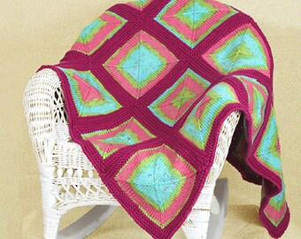 PDF Knitting Pattern Watermelon Patch Baby Blanket (Instant Download)