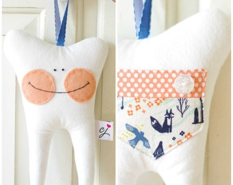 Tooth Fairy Pillow for a Girl (Cotton and Steel)-READY TO SHIP