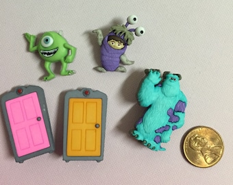 Monsters Inc button Embellishment
