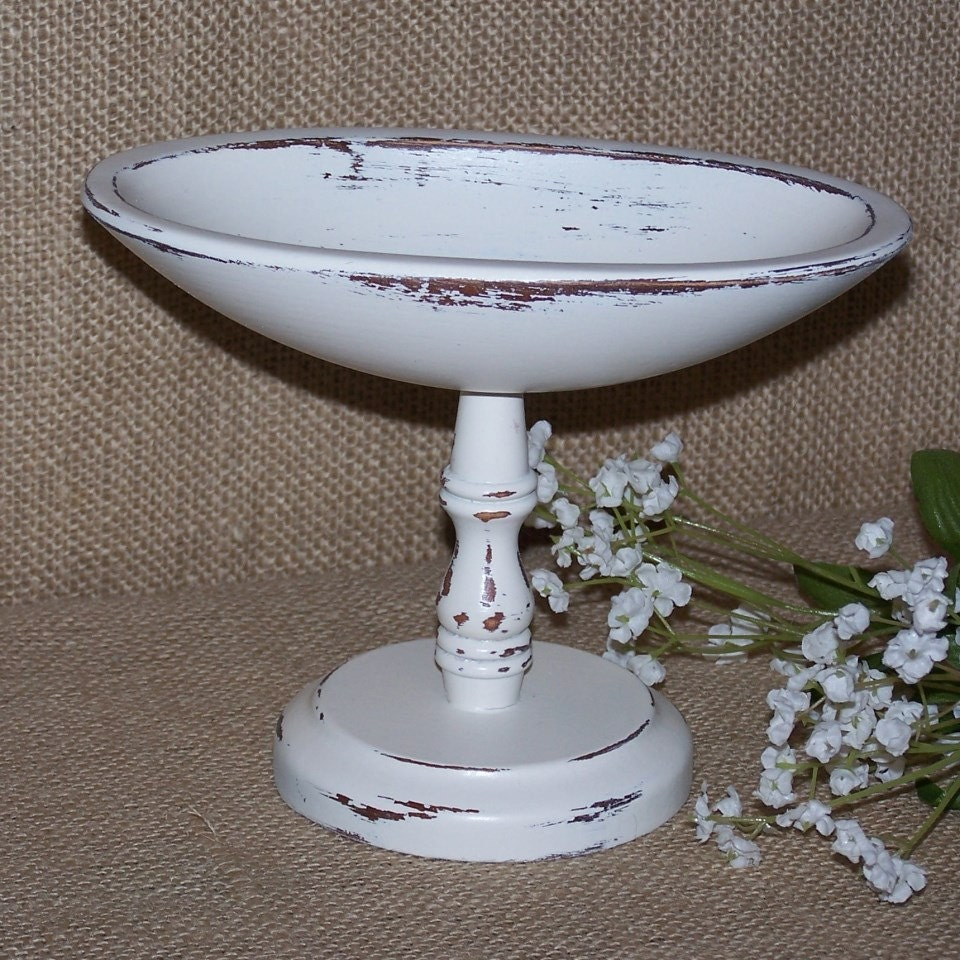Wood pedestal bowl white pedestal bowl wood compote