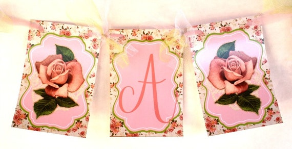 Items Similar To Shabby Chic Its A Girl Banner
