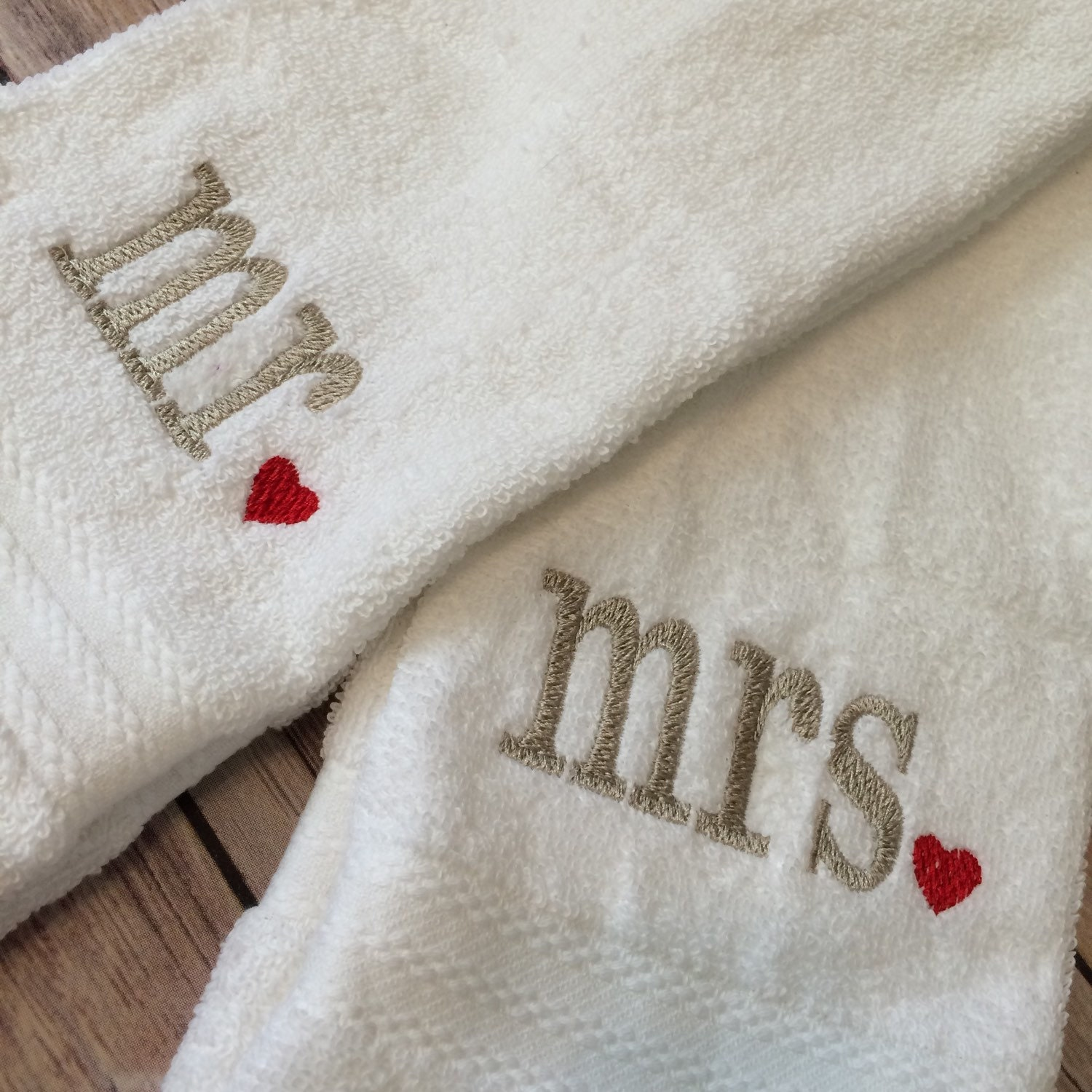 Mr. And Mrs. Hand Towels Embroidered Towels Personalized