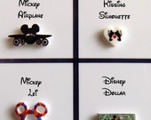 Disney Travel or Vacation Floating Locket Origami Inspired Charms