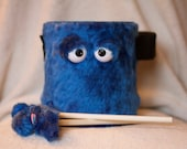 Kids Drum - Furry Blue Handmade Durable Eco-Friendly Fun Coolest Marching Drum For Kids 'BLAST BUDDY'