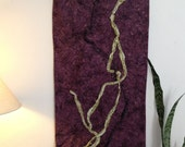Fiber Art Wall Hanging with Beads - Parallel Pasts