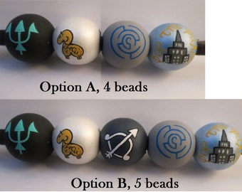 Percy Jackson camp half  blood beads only, all versions available