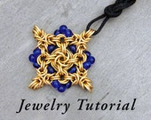 Beaded Quatreflower Pendant Jewelry Tutorial